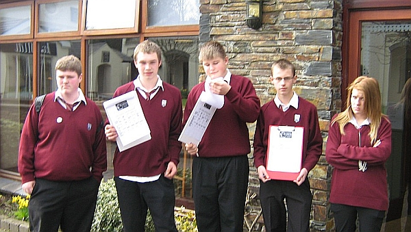 Some of our pupils with their surveys