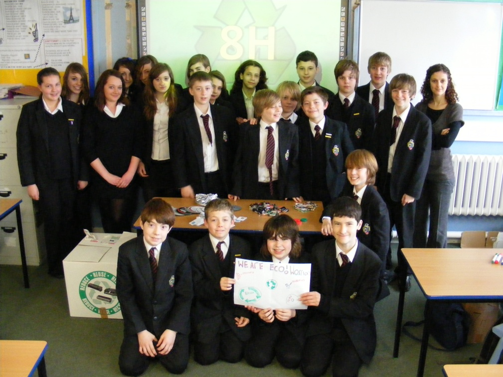 A visit to 8H,  a great tutor group – and big on recycling!