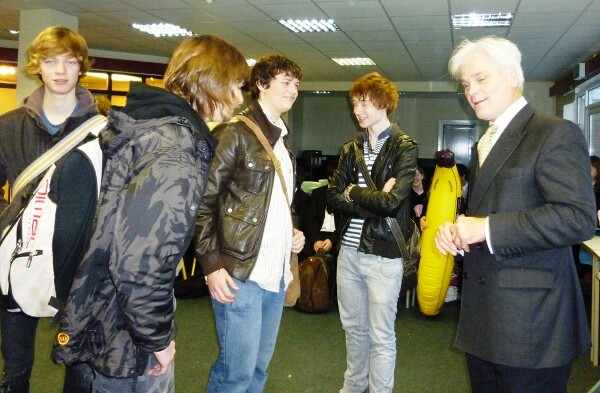 Other students meet and greet our MP