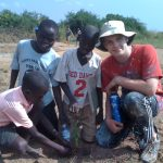 Planting trees at the primary school (2)