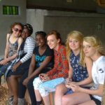 Some of the girls on the last day