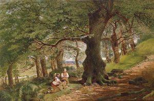 Kinder am Waldweg 1862 By Joseph Moseley Barber (fl. 1860s/1870s) (Dorotheum) [Public domain], via Wikimedia Commons