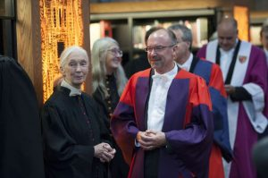 Jane Goodall St Andrews photo