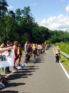Human chain against coal