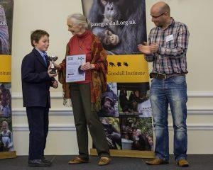 Jane Goodall's Roots & Shoots Annual Awards 2014; Dr Jane Goodall, DBE, Tim Herbert, Hamish Duncan copy