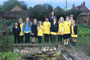 Jo from David Shepherd Wildlife Foundation coming to see our wildlife pond!