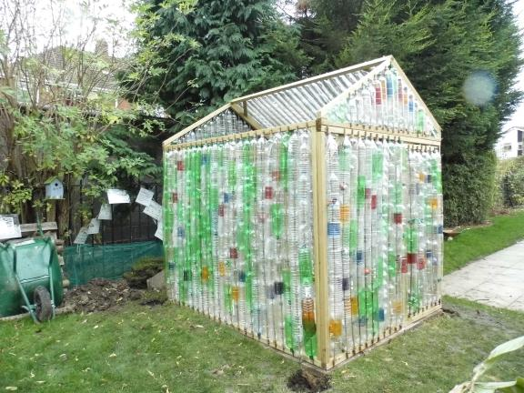 Plastic Bottle Greenhouse Building At Mayflower Primary