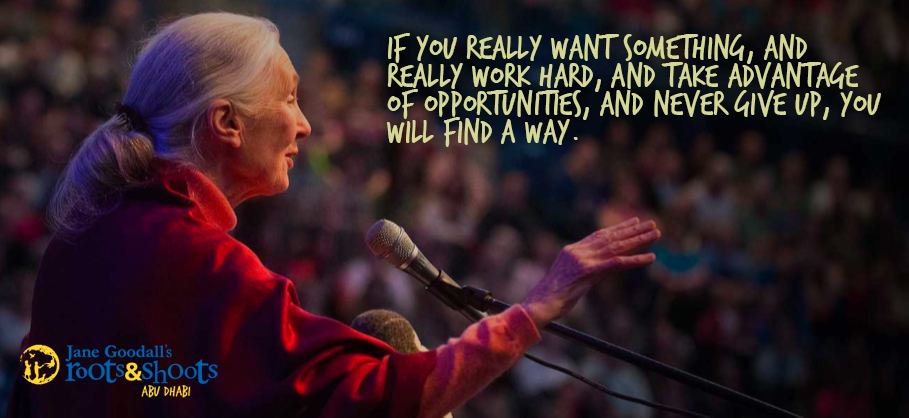 Jane Goodall, founder of Roots & Shoots