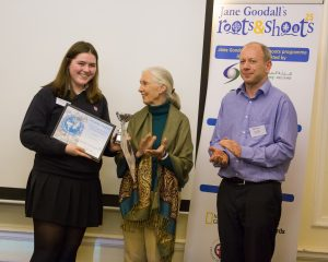 Isabella from TASIS receiving her Most Outstanding Individual Award. Credit: Roger Mark Photography