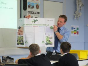 Mr Hearmon telling Class 7e1 that today is the day for Rocket Science Lift off!