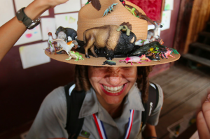 A home-made hat. Image by the National Ranger Service, US