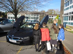 Queueing to get into the BMW i8