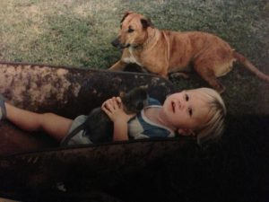 My brother, brutis and my first monkey