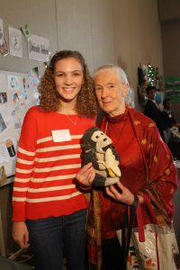 Morgan Pitman with Dr Jane Goodall