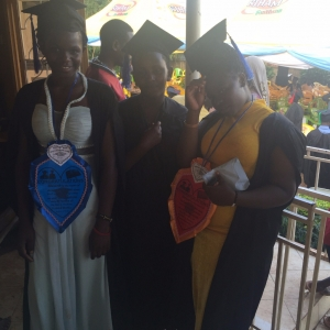 The girls graduate their vocational courses