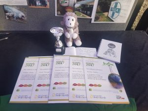 Figure 5. Certificates, trophy and gifts