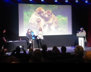 Figure 5. Rachael Fraser receiving her award for the Best Photograph.