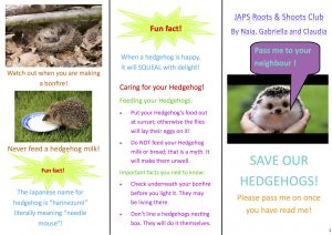 hedgehog leaflet by Gabriella King copy