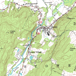 Example Topographic map (USGS - Public Domain)