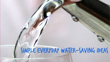 Simple everyday water-saving ideas