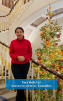 Tara Golshan, Executive Director, Education, the Jane Goodall Institute Christmas message 2020