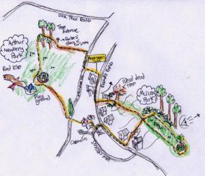 Local trail map