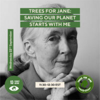 Join Dr Jane Goodall for a special event – and join #TreesForJane